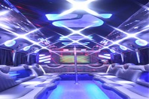 ELPL30 White Limo Party Bus