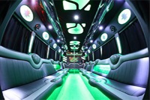 ELPL White Limo Party Bus
